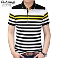 Polo shirts men's Hot Men Slim cotton stripe color short sleeved POLO shirt Fashion Business Leisure style Brand male clothes