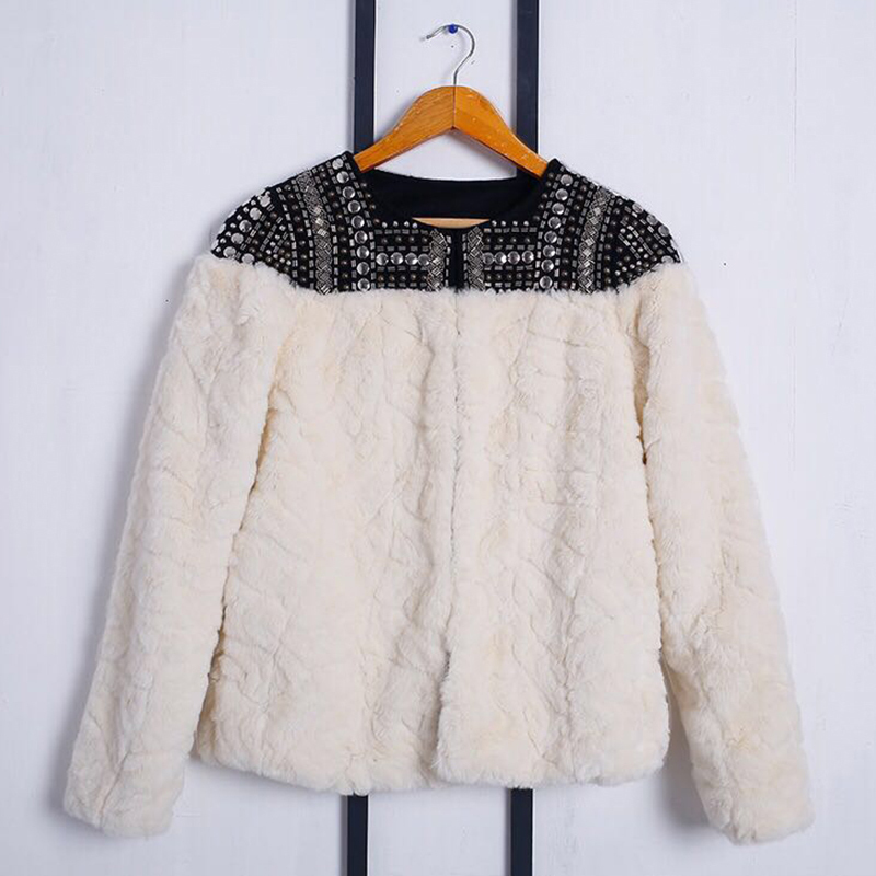 HTB1KdWGnDvI8KJjSspjq6AgjXXa6 - TWOTWINSTYLE Fleece Rivet Coat For Women Faux Fur Patchwork Long Sleeve Thick Cardigan Female 2020 Winter Harajuku New Clothing