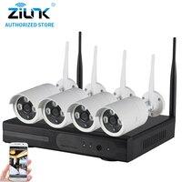 ZILNK Plug And Play 4CH 960P HD Wireless NVR Kit P2P Waterproof Outdoor IR Security Surveillance