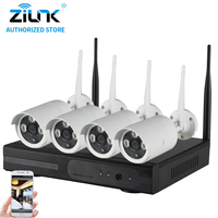 ZILNK Plug And Play 4CH 960P HD Wireless NVR Kit P2P Waterproof Outdoor IR Security Surveillance