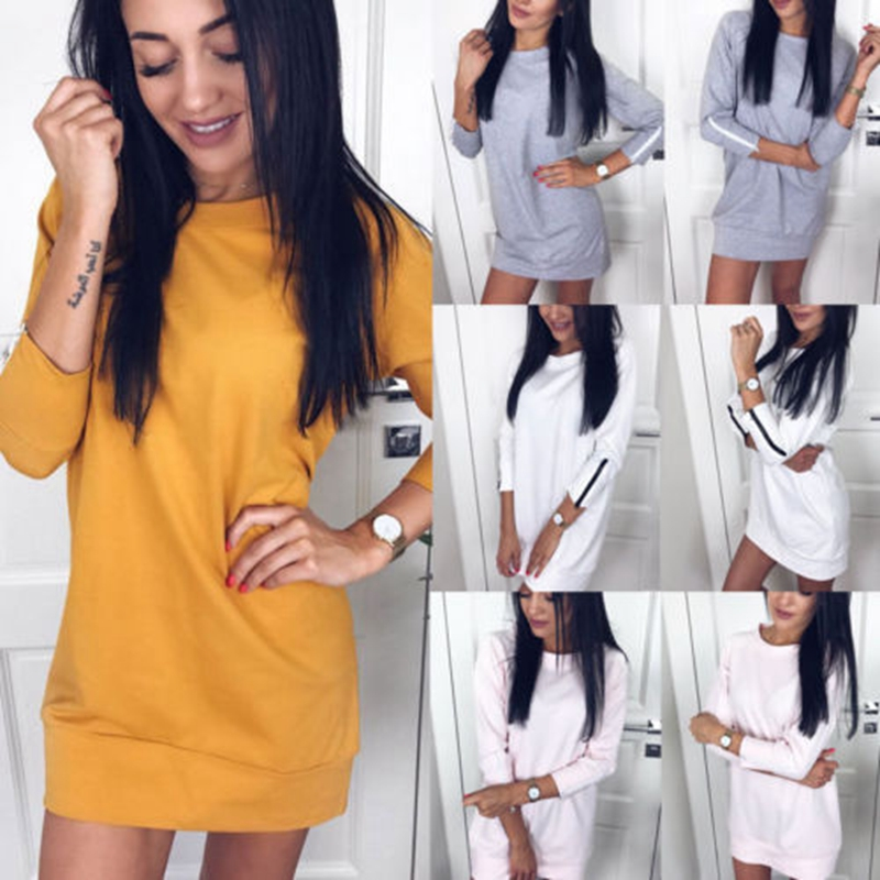 Women's Clothing Careful New Womens Ladies Loose Sweatshirts Long Sleeve Pullover Jumper Tops