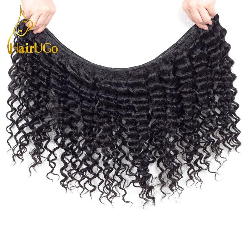 HairYou Pre-colored Malaysia Hair 100% Human Hair 4 Bundlar med - Mänskligt hår (svart) - Foto 3