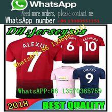 2018 2019 Manchester ALEXIS POGBA LUKAKU MKHITARYAN RASHFORD Soccer SHIRT  United MEMPHIS MATA 18 19 ANDER 48f14890d