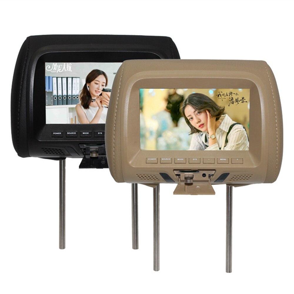 Универсальный автомобильный MP5-плеер с 7-дюймовым светодиодный ным экраном, монитор на подголовник с AV/USB/SD входом/FM/динамиком/автомобильной ...
