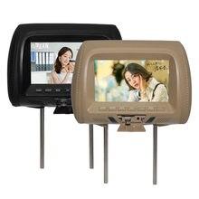 Universal 7 pulgadas TFT LED del coche de la pantalla de MP5 reposacabezas reproductor soporte de monitor/AV/USB/SD, entrada/FM/altavoz/cámara de coche
