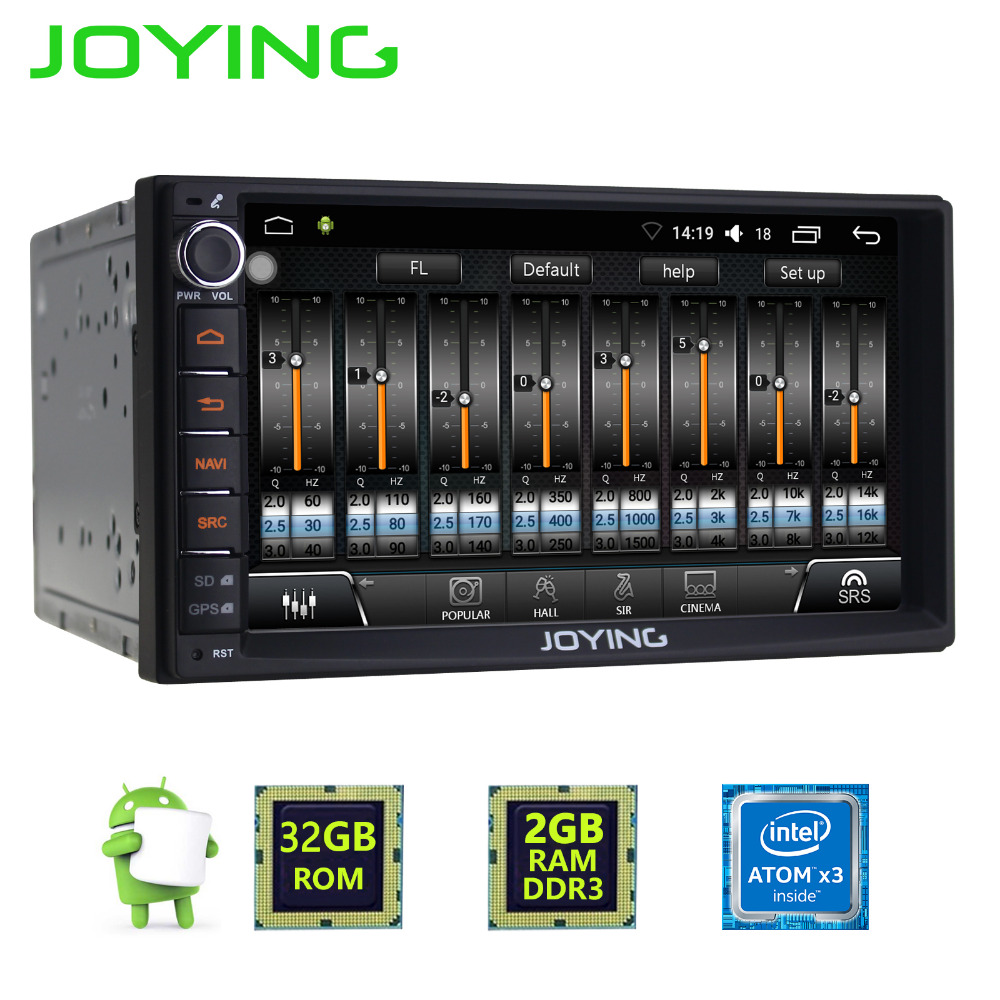 joying 7 inch touch screen 2din android 6 0 car radio head. Black Bedroom Furniture Sets. Home Design Ideas