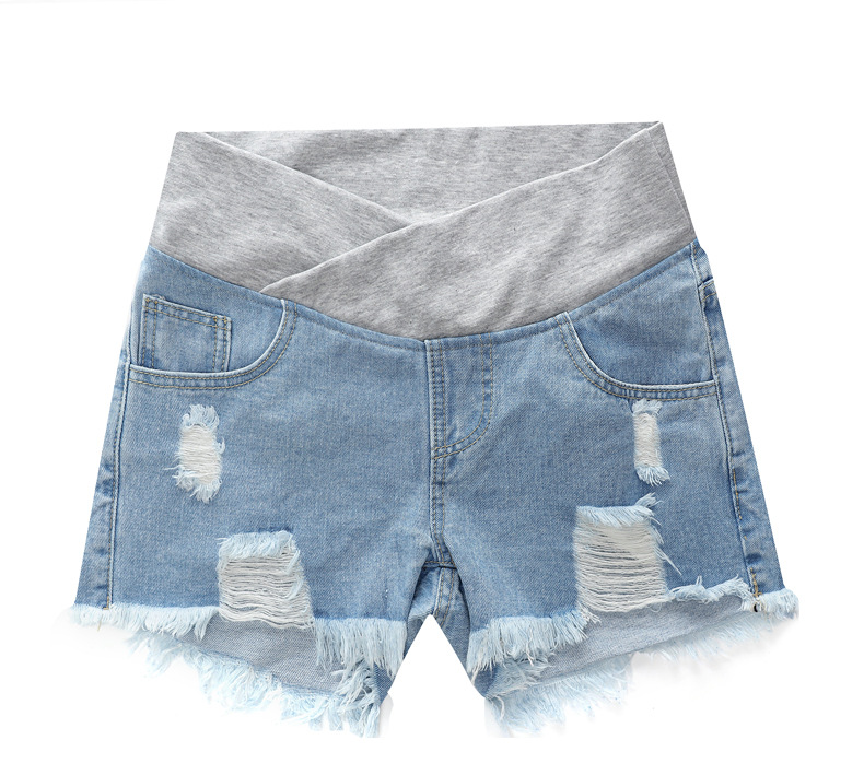Denim Shorts Wear Loose-Pants Summer Pregnant Women's for Spring Low-Waisted New