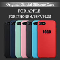 Original Liquid Silicone Case For Apple IPhone 7 7Plus 6S Plus With LOGO Phone Cases Back