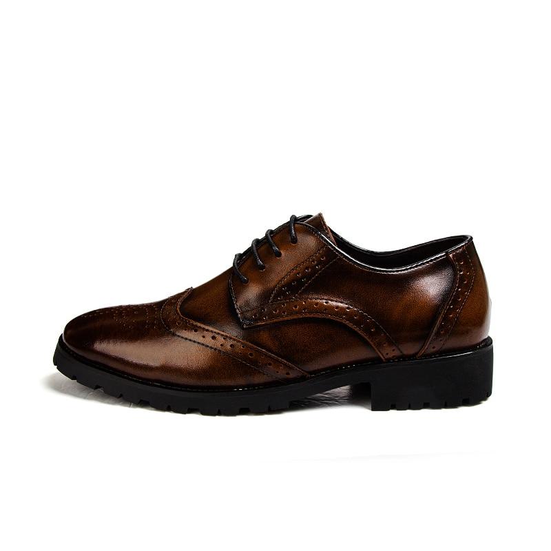 British Brogue En Negocios Ocio Red Hombres Nueva Niza Hombre Vintage De black Encaje Moda Tallada Up Punta Cuero wine Bajo Zapatos Bronze Atw8Xqw