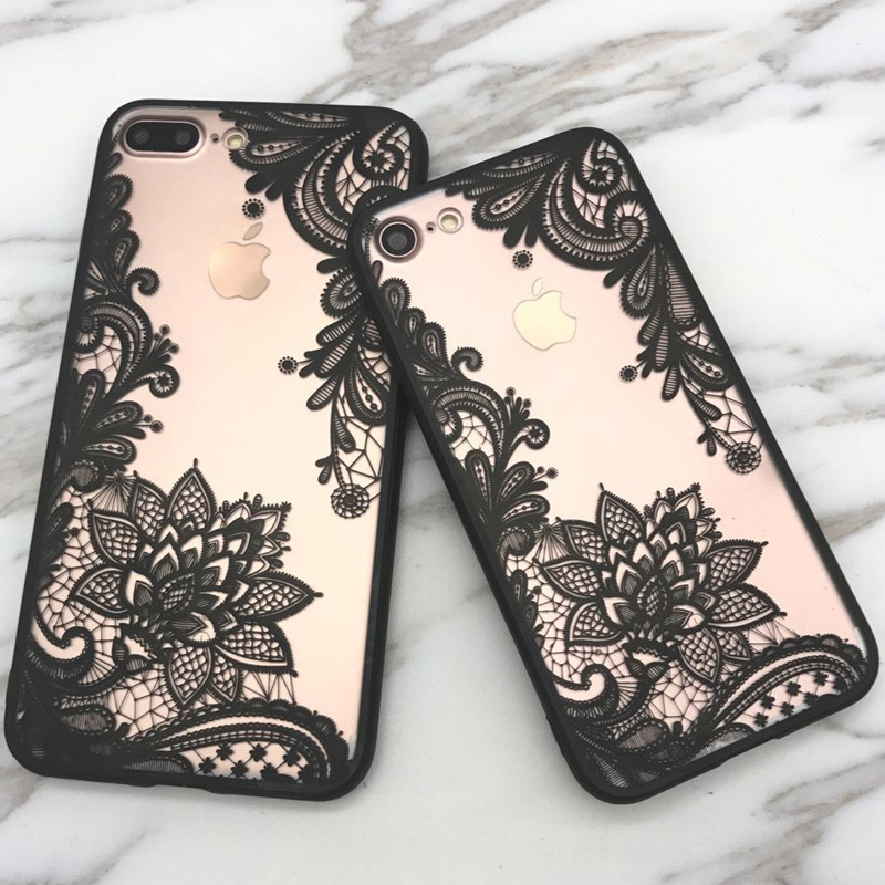 Case Design flower phone cases : Fashion Sexy Encaje Floral Paisley Flor Mandala Henna Claro Caso Para ...