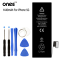 ONES Brand new 0 Cycle 1440 MAh Li-ion Mobile Phone Battery for Apple Iphone 5 5G iphone5 battery Replacement with kit tools