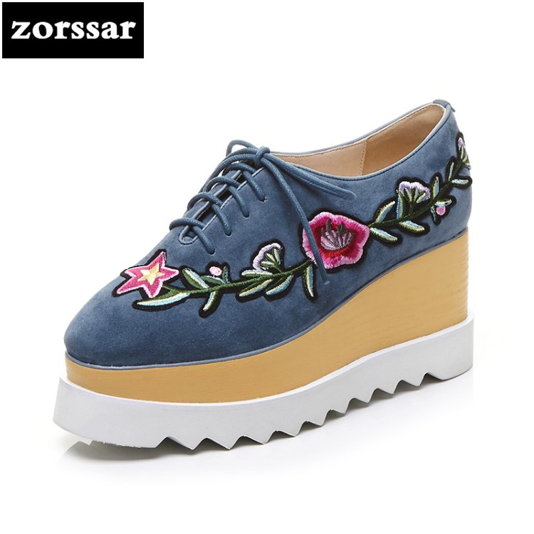 {Zorssar} Brand 2018 womens Creepers shoes heels Casual Wedges High heels pumps shoes fashion flowers suede women Platform shoes zorssar brand 2018 new womens creepers shoes heels casual wedges high heels pumps shoes fashion suede women platform shoes
