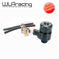 WLRING Free ShippingBlack Auto Racing Turbo Aluminum 25mm Blow Off Valve Turbo Wastegate Bov With Adpater