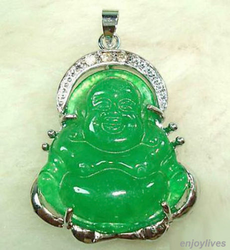 Free shipping hot sale new style green white crystal buddha free shipping hot sale new style green white crystal buddha pendant aloadofball Images