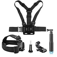 SHOOT Action Camera Accessories set For gopro hero 5 4 xiaomi yi 4k sjcam sony eken h9 with19 inch Selfie stick Head Chest Strap