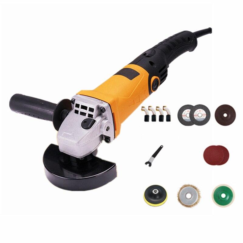220v multifunctional electric angle grinder 6 level speed adjustment long handle grinding combo 2 cutting polishing