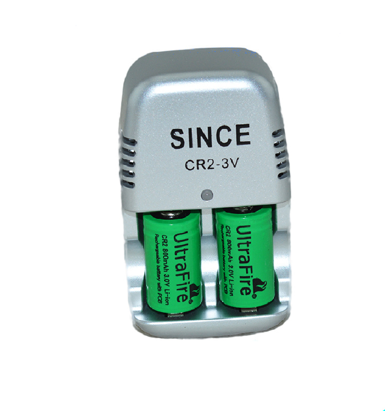 New 2 pcs.15270 CR2 800mAh battery+3V CR2 battery charger,lithium battery,rechargeable batteries,digital camera, made of special(China)