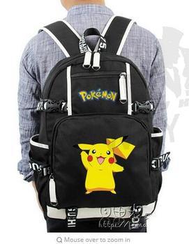 NEW fashion women men School Bags Teenager Girls Boys Mochila Anime Luminous Printing Backpack Pokemon Gengar Cosplay Backpacks new style school bags for boys