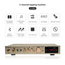 5 Channel Amplificador Bluetooth AV Amplifier Stereo Karaoke Stage Hifi Power Home Theater Audio Amplifiers Dual Mic FM SD USB s 9000 home high power professional 5 1 bluetooth amplifier hifi theater amplifier