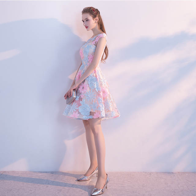 placeholder Elegant O-neck Sleeveless Lace Short Prom Dresses 2018 Plus  Size Gala Dress Special Occasion b089671da730