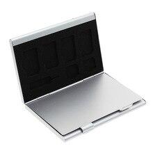Новейший 15 в 1 Алюминиевый сплав памяти SIM Micro-Sim карта Pin чехол для хранения защитная коробка для 8x Micro SIM карты