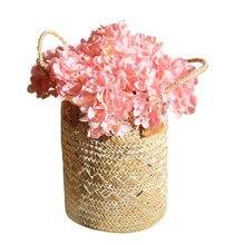 Hydrangea artificial flower plant wall fake wedding decoration hand bouquet home accessories background