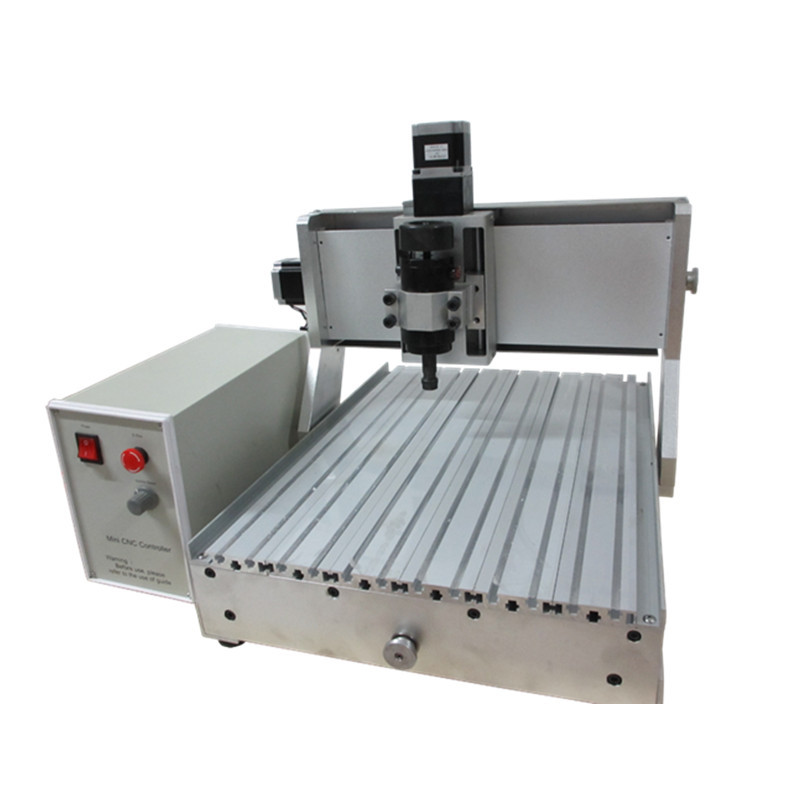 Mini 30X40 40*30cm ball screw 3 axis CNC router with water cooling spindle for wood PCB milling and drilling,engraving,cutting cheap price mini cnc router 2520t 3 axis 200w spindle for new user or school tranining