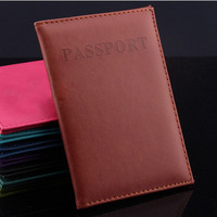 Hot Women & Men Fashion Faux Leather Travel Passport Holder Cover ID Card Bag Passport Wallet Protective Sleeve Storage Bag