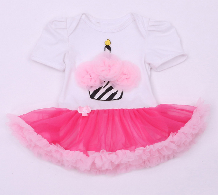 Lovely Baby Toddler Girl Romper With Ruffles Tutu skirt Summer Newborn Lace onesie Outfit Dresses Clothing For Birthday Party