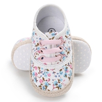 Baby Shoes Baby Girl Floral Prints Anti Slip Shoes Toddler Soft Soled First Walkers