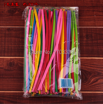 Free Shipping 16000pcs=80bag Mix color Xmas Wedding Birthday Party Decoration Magic Ballons Assorted Latex Long Balloon
