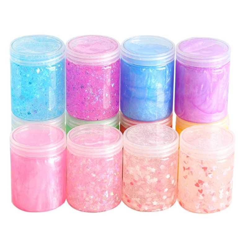100ml Storage Container Organizer Box For Light Clay Playdough Foam Slime Mud DIY Store balls accessories Hot Sale