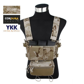 TMC Multicam Arid Tactical Compact SS Fight Combat Micro Chest Rig Complete Set(SKU051272)