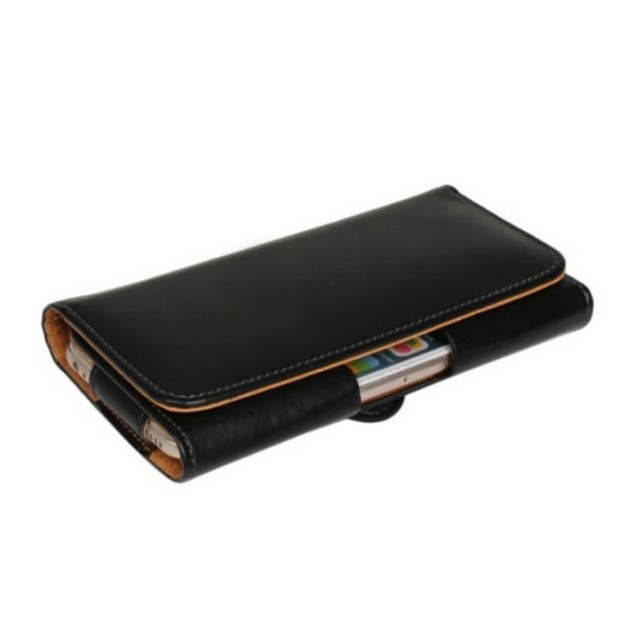 Belt Clip PU Leather Waist Holder Flip Cover Pouch Case for Philips Xenium V526 LTE/I908/V387/W8555/W3500/W6610 5 Inch