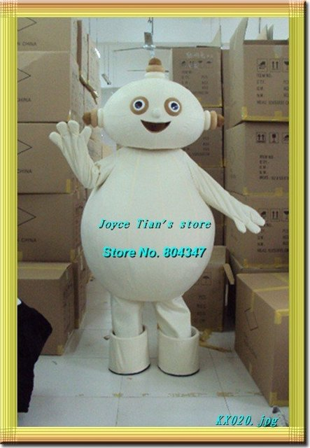 Newest Version Light Mascot Costume robot Cartoon Mascot Character Costume Free Shipping