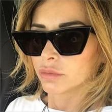2018 New Cat Eye Mulheres Óculos de Sol Da Moda Marca Designer Red UV400  Tons Quadrados Homens Óculos De Sol gafas de sol óculos. 2c275d2621
