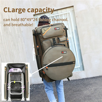 Fishing Chair Bag 80cm Multifunctional Tackle Bag Double Back Fish Bag Waterproof Fishing Rod
