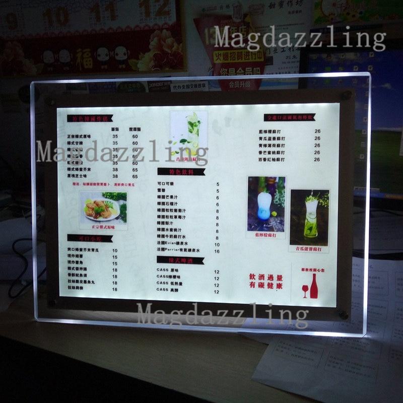 Cornici Per Poster.Us 515 0 10 Unita A3 Slim Led Illuminato Acrilico Cornice Supporto Da Tavolo Acrilico Cornici Poster Lightbox Pubblicita In Insegne Luminose Da