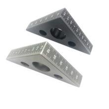 45 stopni linijka kątowa ze stopu aluminium Cal Metric Tri linijka kątowa warsztat stolarski obróbka drewna kwadratowe narzędzie wielofunkcyjne