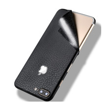 Leather Pattern Pink Green White Protector Back Skin Sticker For iPhone 6 6S 7 8 Plus