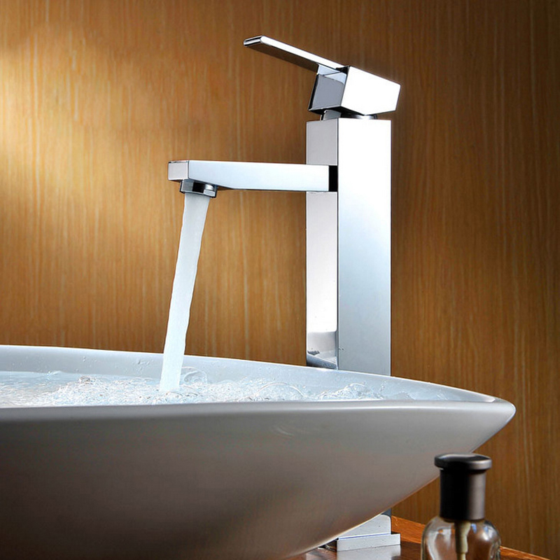 Fashion Style High Quality Deck Mounted Chrome Brass Faucets Bathroom Sink Faucets Basin Faucet Mixer Tap Water Hot Cold Sitting deck mounted 5pcs brass body bathroom bathtub sink mixer tap chrome finish faucet set ly 12dd1