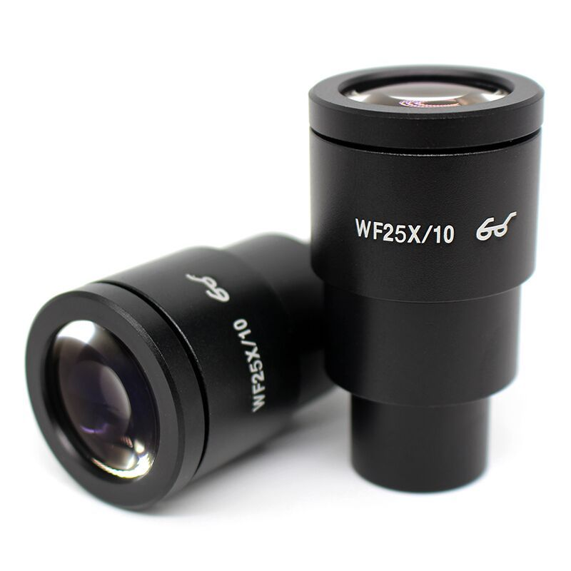 2PCS High Eye-point Wide Field WF25x/10 mm Microscope Eyepiece Optical Lens with Mounting Size 30 mm for Stereo Microscope doumoo 330 330 mm long focal length 2000 mm fresnel lens for solar energy collection plastic optical fresnel lens pmma material