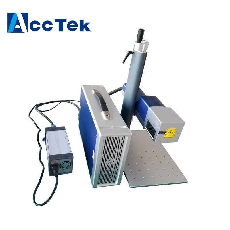 Mini smart Fiber laser marking machine/Metal Laser Marker/Laser Marking Price only has 25kg !!!