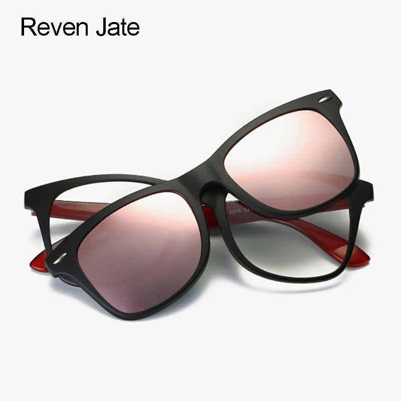 f8e669694c Reven Jate Polarized Sunglasses Magnetic Clip-on for Men and Women  Sunshades 4 Colors Driving