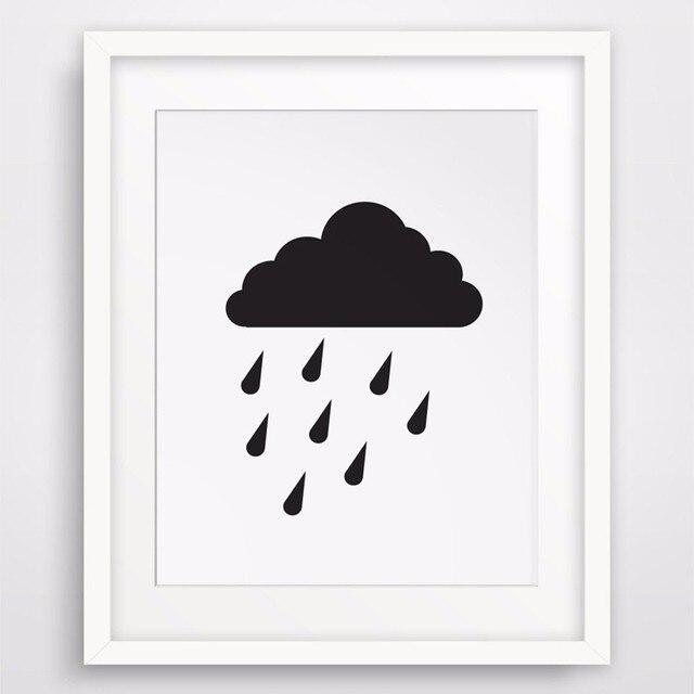 Awan Hujan Cetak Dinding Cetakan Kanvas Tablolar Gambar Seni Canvas