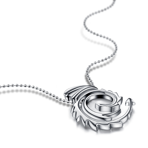 Chinese style solid 925 silver phoenix pendant noble fashion sterling silver necklace for women wholesale silver jewelry gift