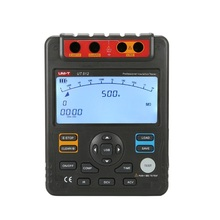UNI-T UT512 2500V 100Gohm Digital Insulation Resistance Testers Meters Voltmeter Auto Range w/USB Interface Meters Megohmmeter uni t ut220 2000a digital clamp meters measure multimeters auto range data hold lcd backlight resistance meters megohmmeter