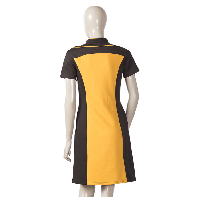 Star Trek The Next Generation Women's Skant Dress Uniform Costume Star Trek Dress Cosplay Halloween Party 2