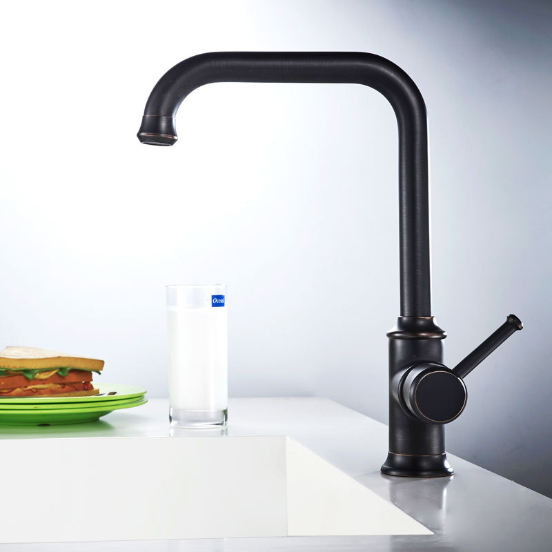 kitchen faucets wholesale all copper wholesale black bronze kitchen dish kitchen sink faucet cold and hot deck mounted 360 5069