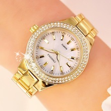 F 2019 Ladies Wrist Watches Dress Gold Watch Women Crystal Diamond Watches Stainless Steel Silver Clock Women Montre Femme guou brand shiny diamond watch fashion rose gold watch women watches stainless steel women s watches clock saat montre femme